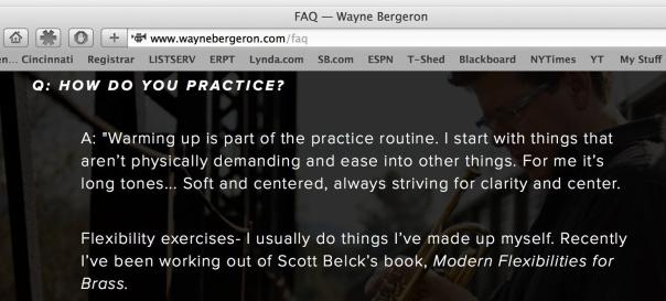 WayneBergeronHowDoYouPractice